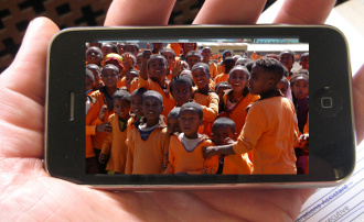 iPhone Group of children